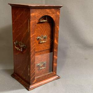 Victorian Oak Table Top Cabinet