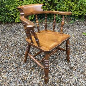 19th Century Captains Or Smokers Bow Chair