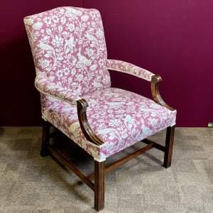 20th Century Mahogany Framed George III Style Elbow Chair