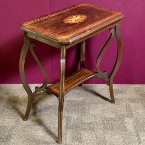 Early 20th Century Rosewood Inlaid Window Table