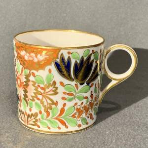 19th Century Chamberlain Worcester Coffee Can