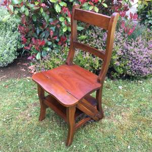 Mahogany Metamorphic Library Chair Steps