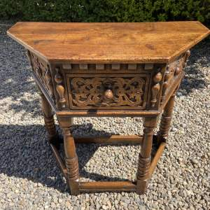Lovely Quality Oak Credence Hall Table