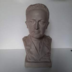 Signed Plaster Bust of a Male