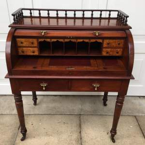 Small Tambour Topped Writing Desk Circa 1860