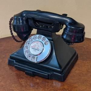 Vintage GPO 232 Pyramid Black Bakelite Telephone