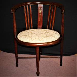Delicate Edwardian Inlaid Chair