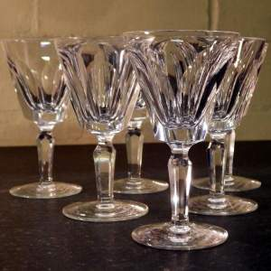 Waterford Crystal Cut Glass Set of 6 Port Wine Glasses