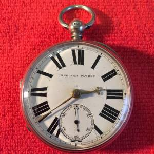 Silver Pocket Watch Stamped London 1884 With Fusee Movement