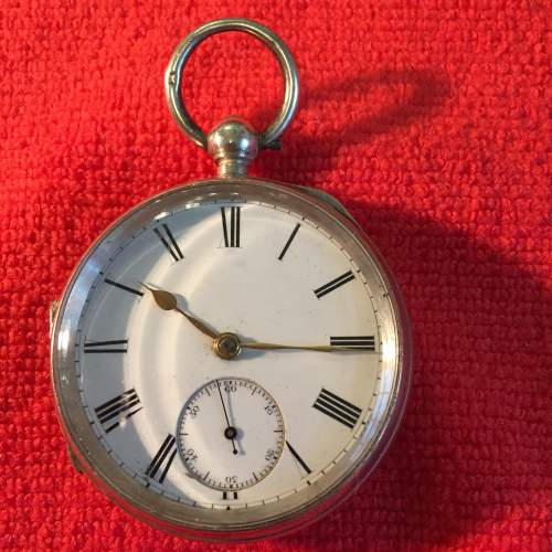 Silver Pocket Watch Stamped London 1887 With Fusee Movement image-1