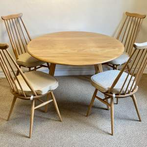 Ercol Dining Table and Four High Back Chairs