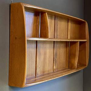 Ercol 20th Century Solid Elm Plate Rack