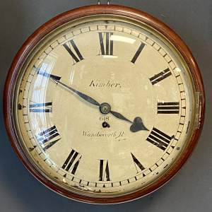 Early 19th Century English Eight Day Fusee Wall Clock