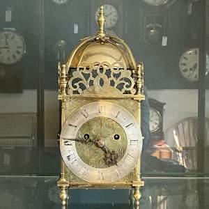 Chain Driven Twin Fusee Lantern Clock