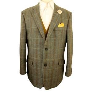 Bridgens Green Mix 44in Tweed Jacket
