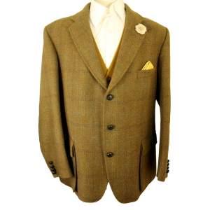 Half  Norfolk Rhodes Wool Clothiers 48in Brown Shooting Jacket