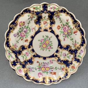 Late 18th Century Worcester Scale Blue Plate
