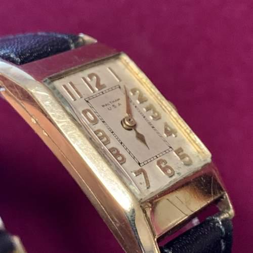 9ct Gold Waltham Wristwatch image-6