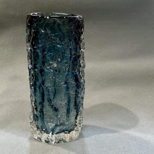 Whitefriars Bark Pattern Glass Vase in Pewter image-1