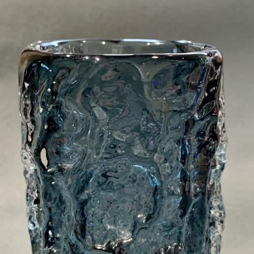 Whitefriars Bark Pattern Glass Vase in Pewter image-3