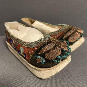 Late 19th Century Pair of Chinese Childrens Shoes