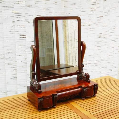 Large Victorian Mahogany Table Mirror image-1
