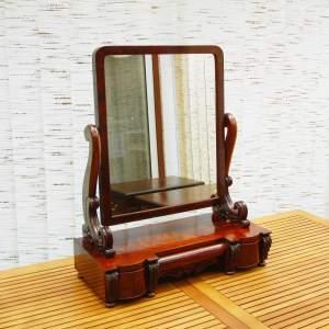 Large Victorian Mahogany Table Mirror