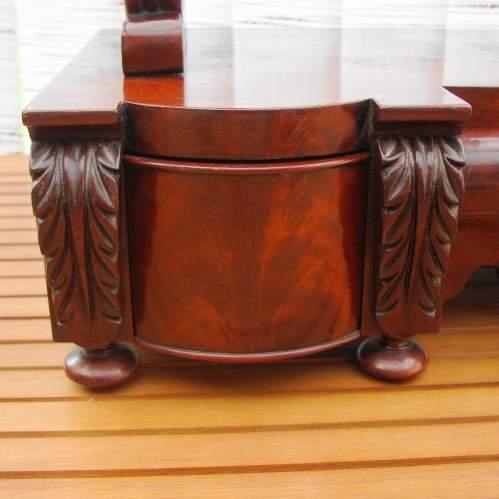 Large Victorian Mahogany Table Mirror image-6
