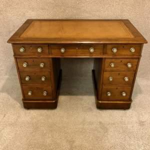 19th Century Mahogany 3 Piece Pedestal Desk