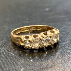 19th Century 15ct Gold Five Stone Diamond Ring