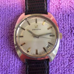 Zenith Gold Plated Manual Wind Watch with Date Circa 1970s