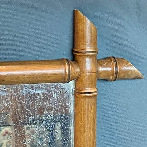 19th Century Cherry Wood Bamboo Effect Wall Mirror image-2