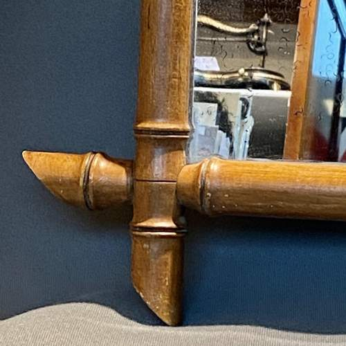 19th Century Cherry Wood Bamboo Effect Wall Mirror image-3