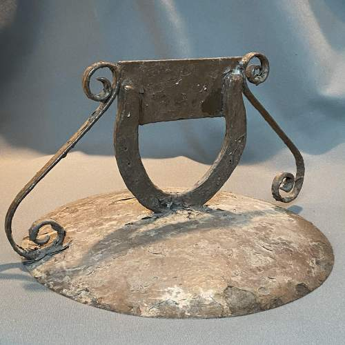 Round Metal Boot Scraper with Horseshoe Centre image-5