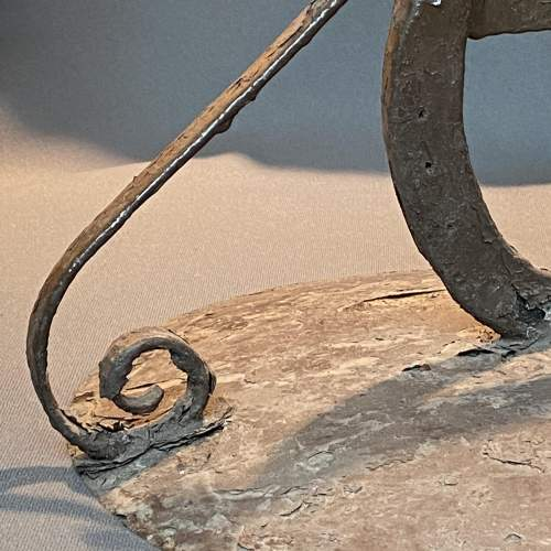 Round Metal Boot Scraper with Horseshoe Centre image-4