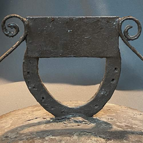 Round Metal Boot Scraper with Horseshoe Centre image-3