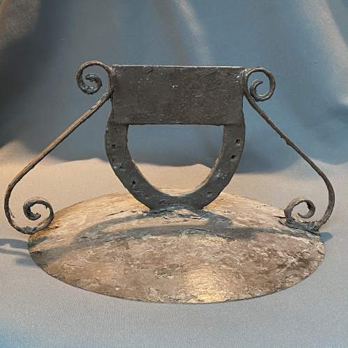 Round Metal Boot Scraper with Horseshoe Centre image-1
