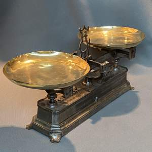 1930s Vintage French Cast Iron Scales
