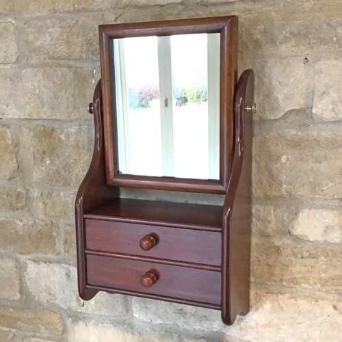 Victorian Mahogany Hanging Wall Mirror image-1