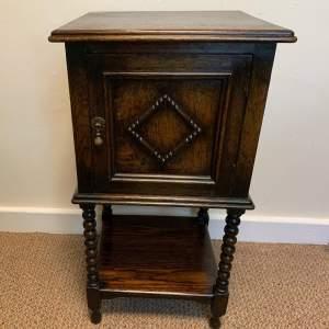 Victorian Bobbin Leg Oak Night Stand