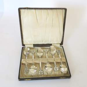 Set of Six EPNS Commemorative Baden Powell Tea spoons 1857 - 1957