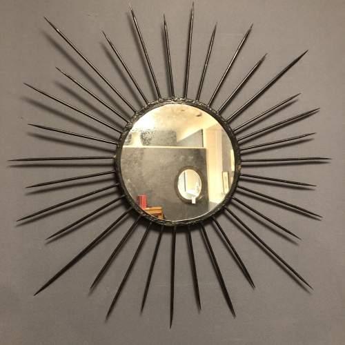 Pair of Vintage Starburst Wall Mirrors image-1
