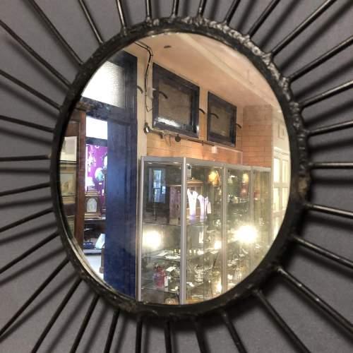 Pair of Vintage Starburst Wall Mirrors image-3