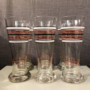 Set of Six Vintage Retro Glasses
