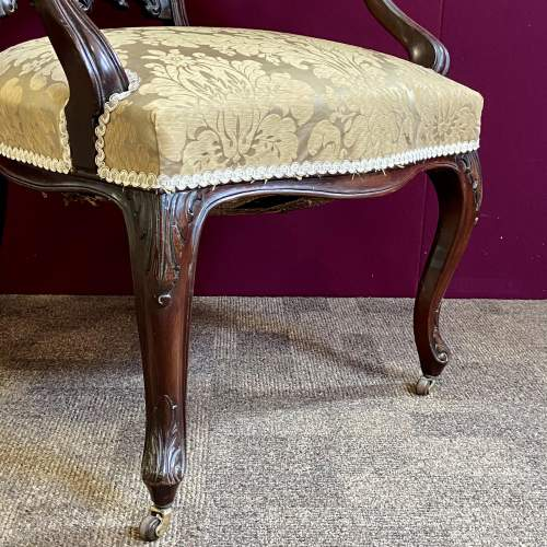 Victorian Carved Mahogany Chair image-4