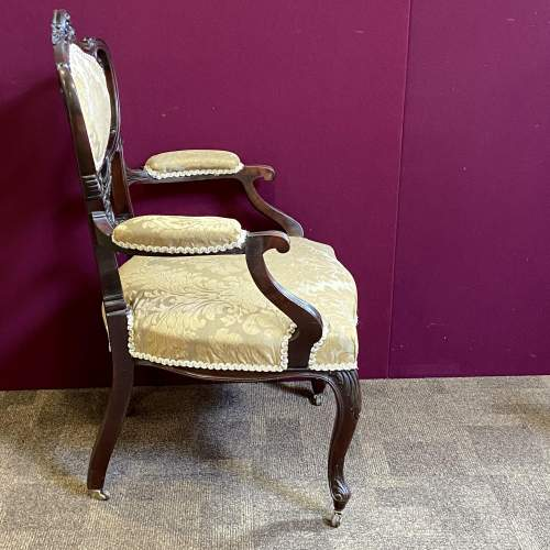 Victorian Carved Mahogany Chair image-5