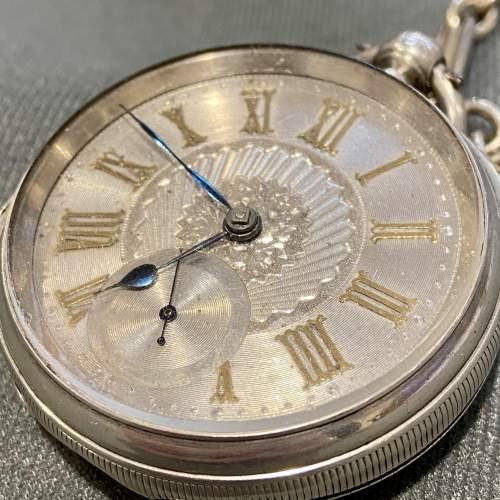 19th Century Silver Gentlemans Pocket Watch image-4