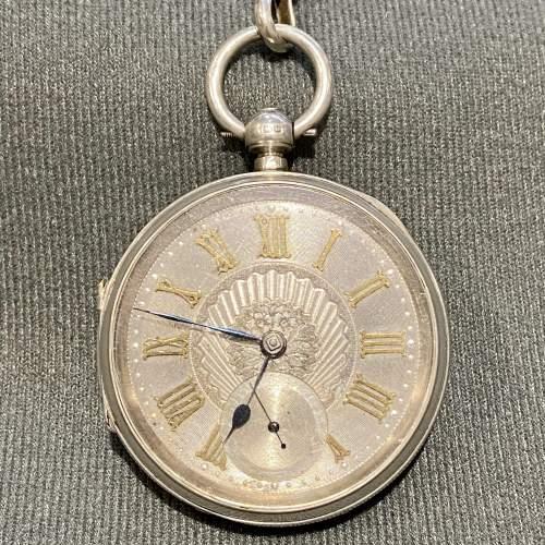 19th Century Silver Gentlemans Pocket Watch image-2