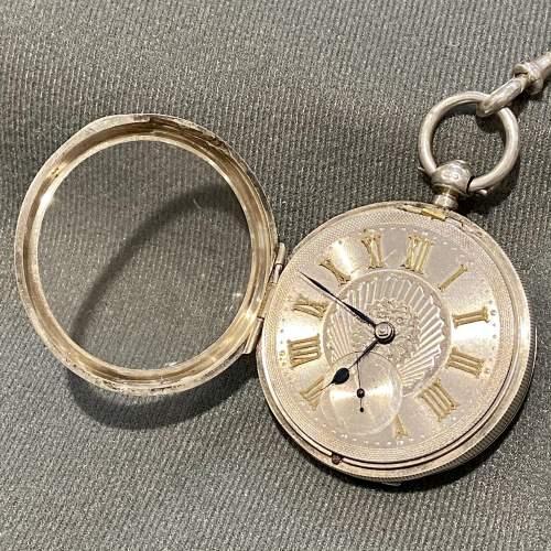 19th Century Silver Gentlemans Pocket Watch image-3