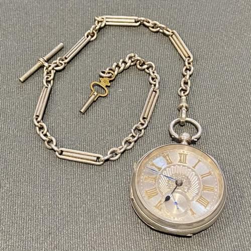19th Century Silver Gentlemans Pocket Watch image-1